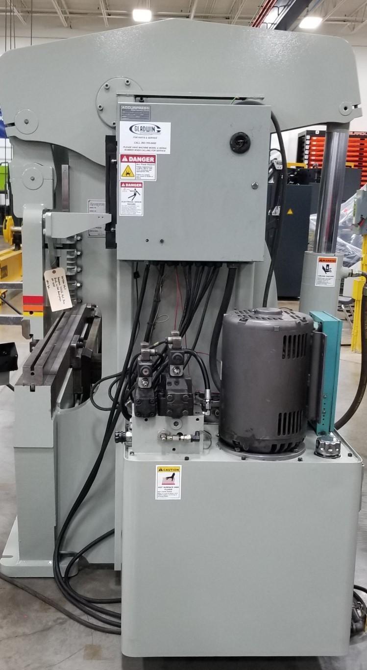 "175 TON ACCURPRESS CNC HYDRAULIC BRAKE PRESS, 12' OA, 124"" BTWH, 2 AXIS ACCURPRESS CNC CONTROL"