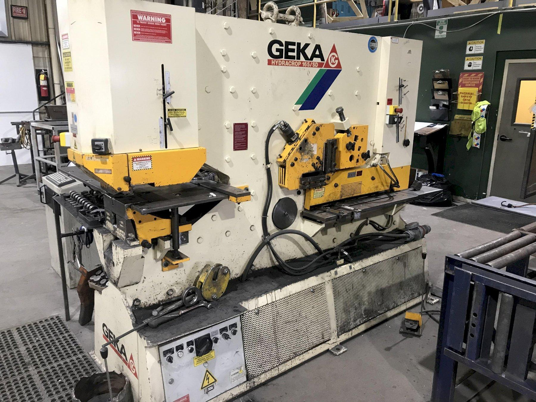 165 Ton Geka Hydracrop 165/300 Ironworker with Saampoxy CNC Positioning