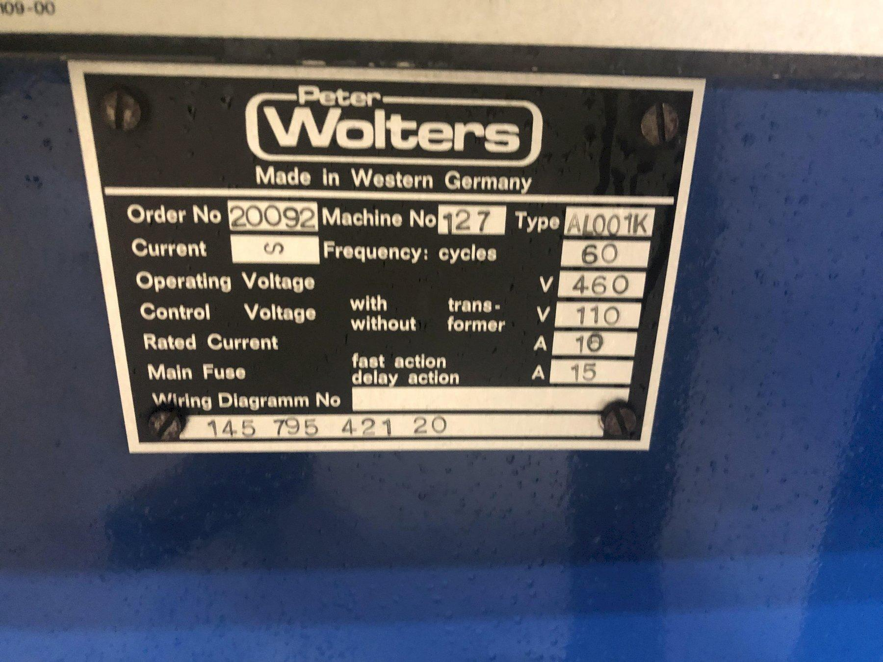 """12"""" Peter Wolters Model AL001K Fine Double-Sided Grinding & Lapping Machine"""