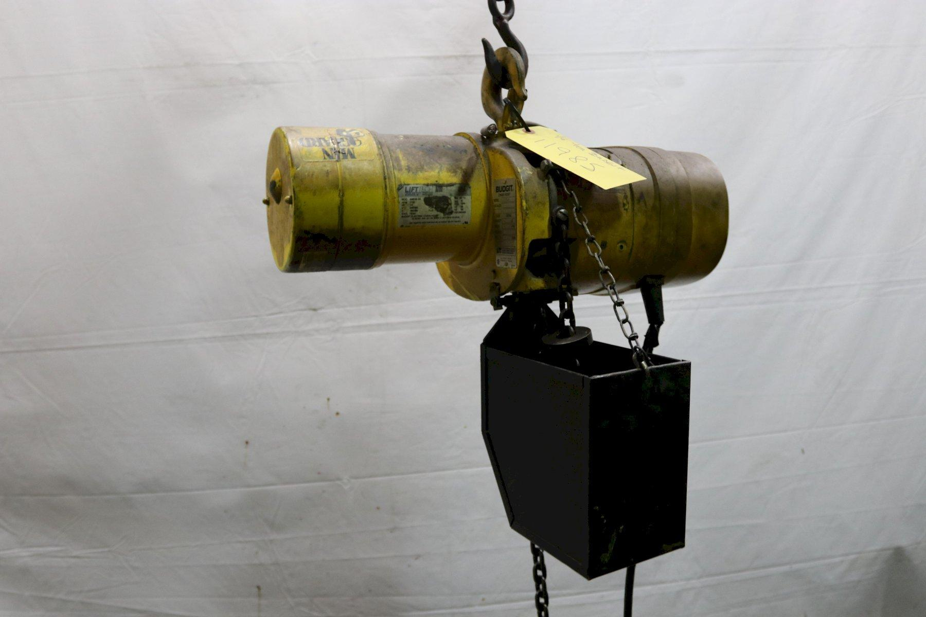 500 LB BUDGIT ELECTRIC POWERED CHAIN HOIST : STOCK #11985