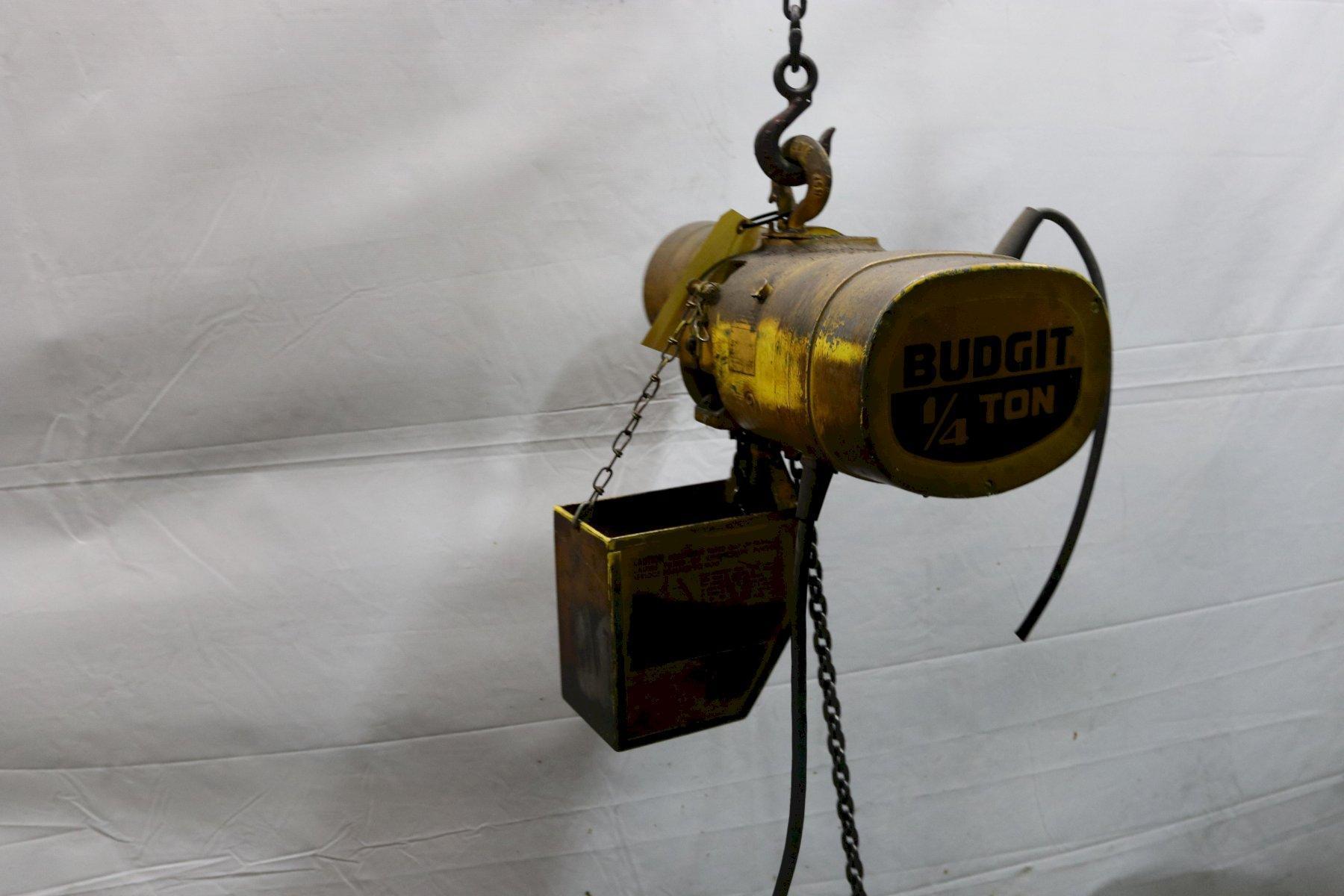 500 LB BUDGIT ELECTRIC POWERED CHAIN HOIST: STOCK #11975