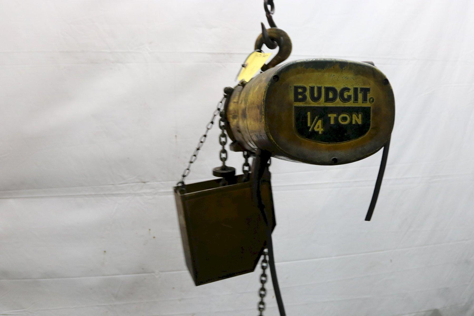 500 LB BUDGIT ELECTRIC POWERED CHAIN HOIST: STOCK #11967