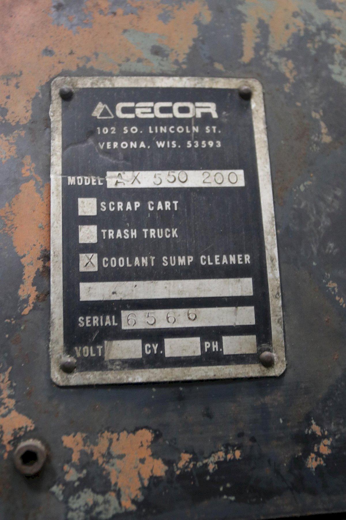 200 GALLON CECOR PORTABLE SUMP CLEANER WITH PNEUMATIC ARO CENTRIFUGAL PUMP: STOCK 11854