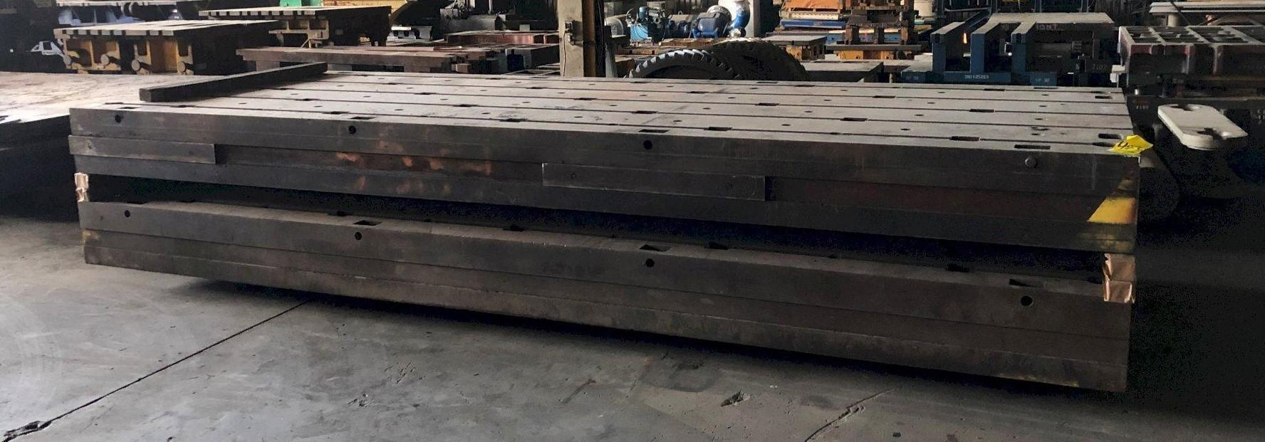 """77"""" x 203"""" x 13-3/4"""" T-SLOTTED FLOOR PLATE: STOCK #11490"""