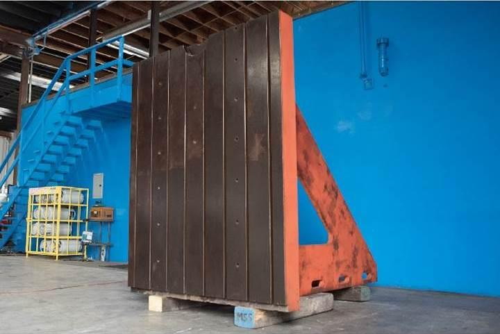 """72"""" W X 89"""" H X 95"""" T & S ANGLE PLATE: STOCK #10889"""