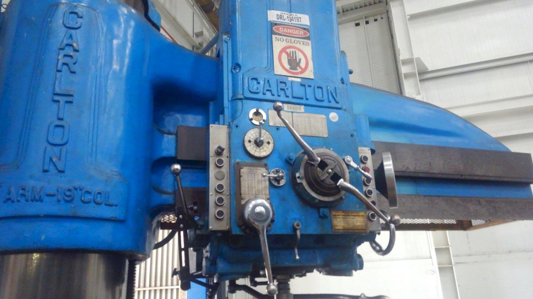 "6' X 19"" CARLTON MODEL #4A RADIAL ARM DRILL: STOCK #10807"