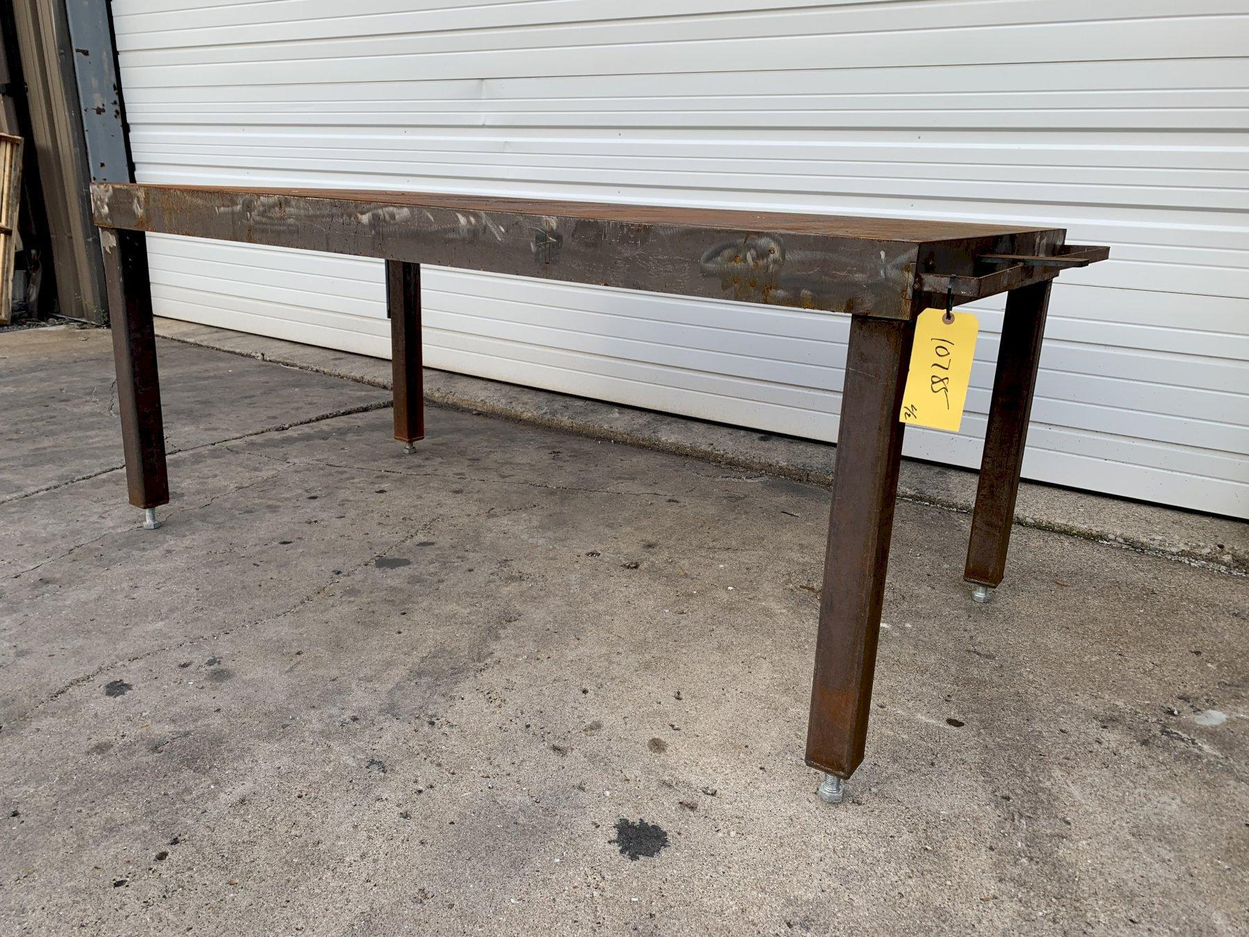 """(3) 80"""" X 40"""" STEEL FABRICATED TABLES: STOCK #10785"""
