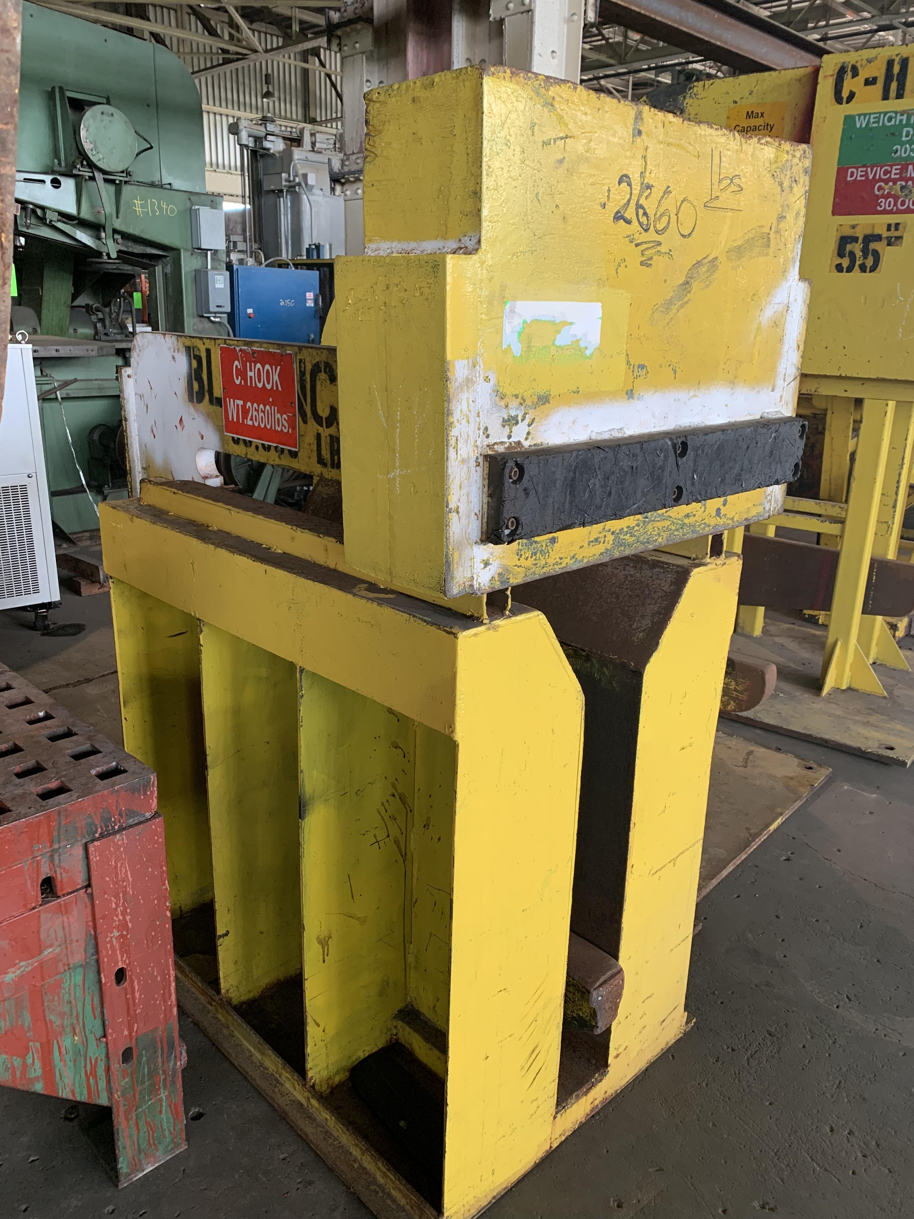 """30,000 LBS X 60"""" COIL LIFTING """"C"""" HOOK WITH STAND: STOCK #10599"""