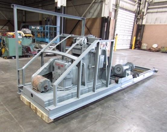 """1/2"""" WEBB MODEL #5 OFF-SET FORMING ROLL WITH SHUTTLE SUPPORT STAND: STOCK #10116"""