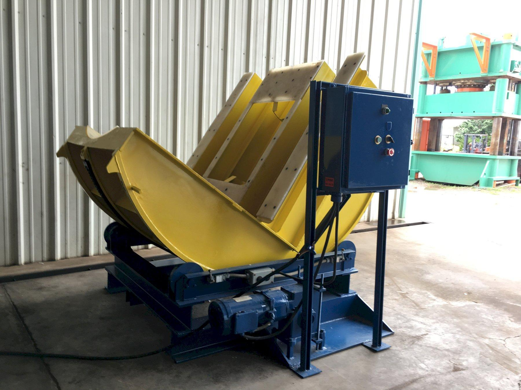 """10,000 LBS x 48"""" MECHANICAL POWERED COIL UPENDER: STOCK 10347"""