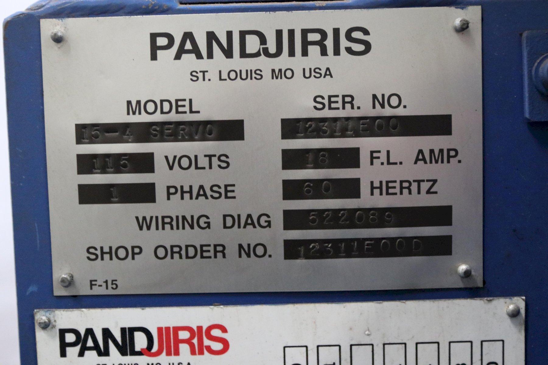 1500 LBS PANDJIRIS MODEL 15-4 SINGLE PHASE 110V WELDING POSITIONER: STOCK #12199