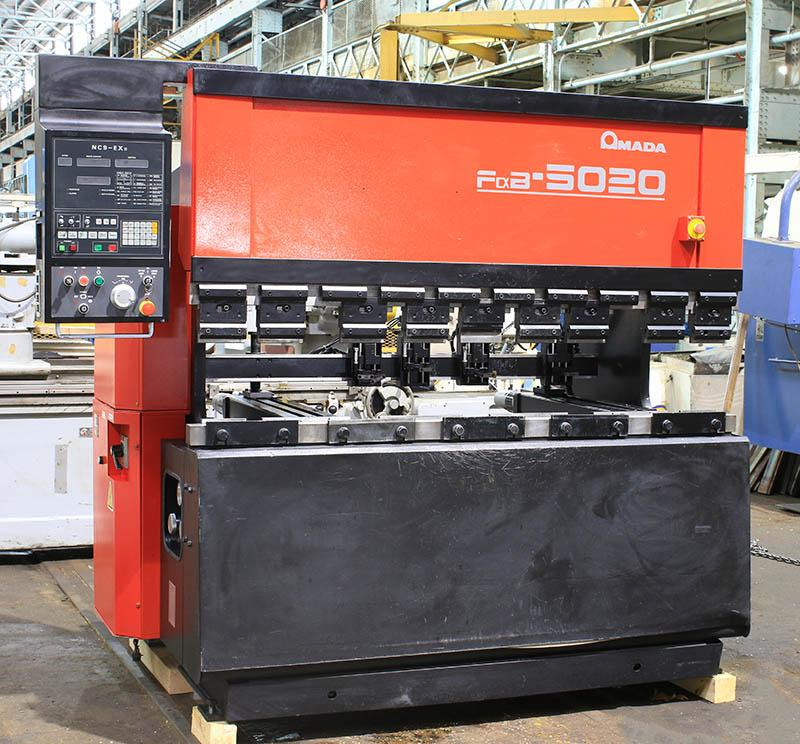 Amada 55 Ton Up-Acting Hydraulic CNC Press Brake, Model FBD-5020E, 1996