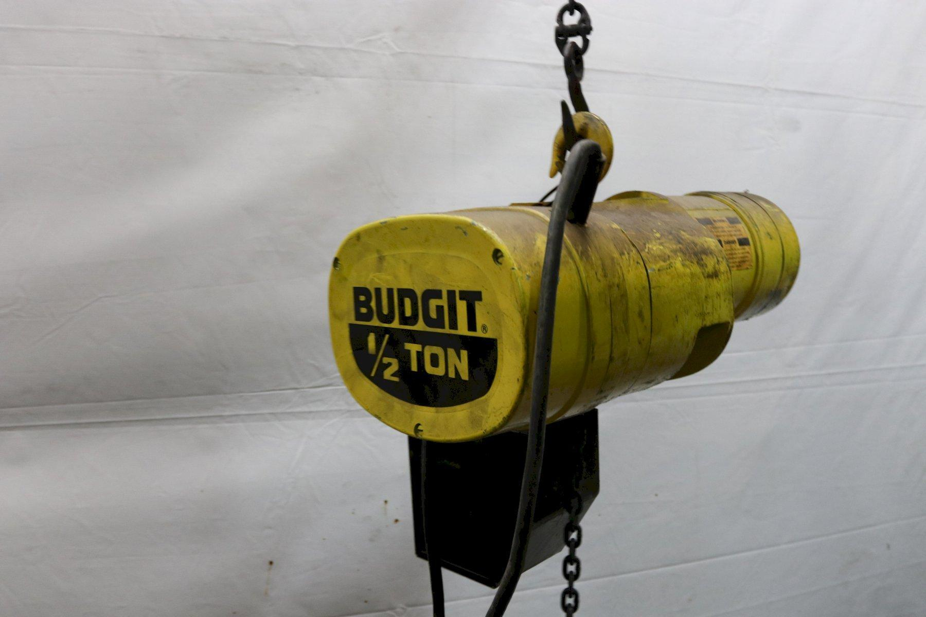 1/2 TON BUDGIT ELECTRIC POWERED CHAIN HOIST: STOCK #11976