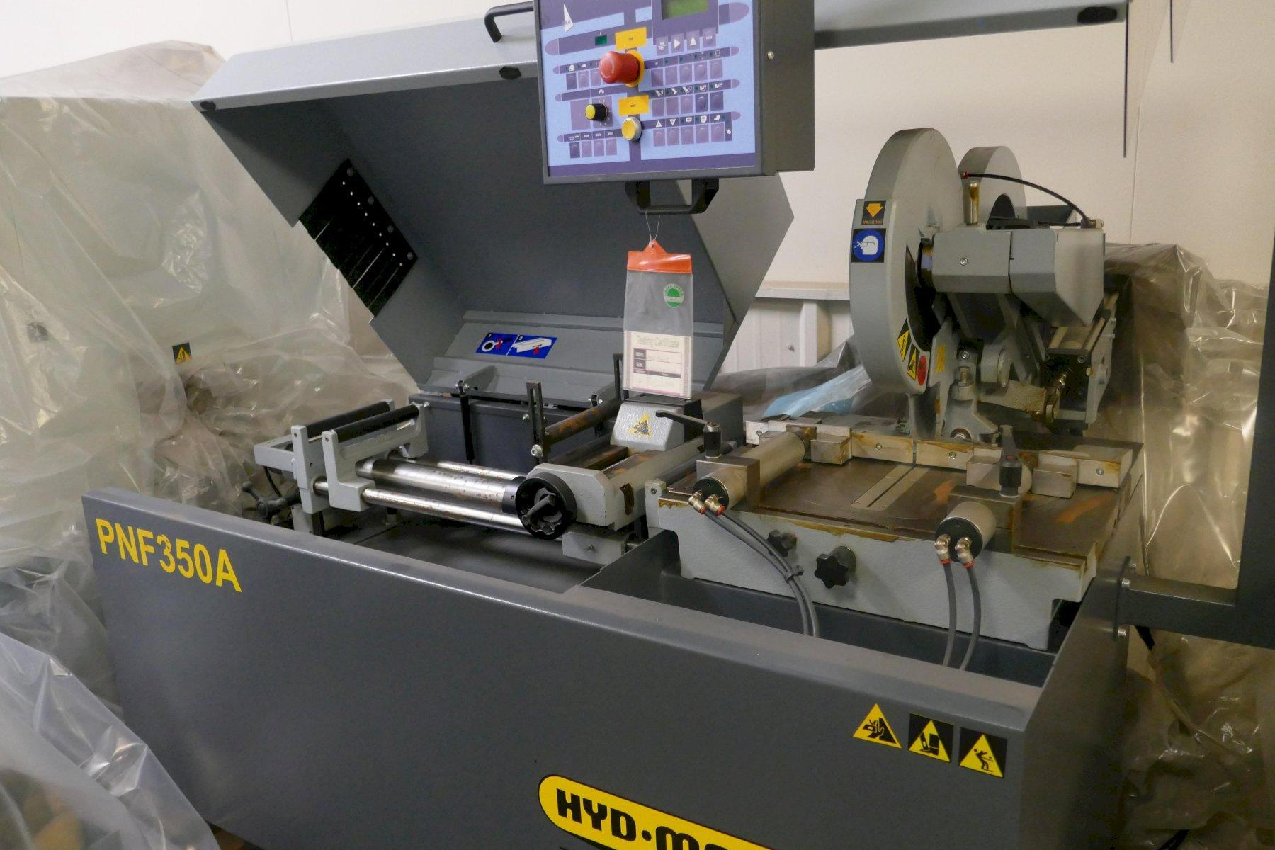 DEMO HYD-MECH MODEL PNF 350A FULLY AUTOMATIC NON-FERROUS CIRCULAR SAW (ALUMINUM), Stock # 10767,