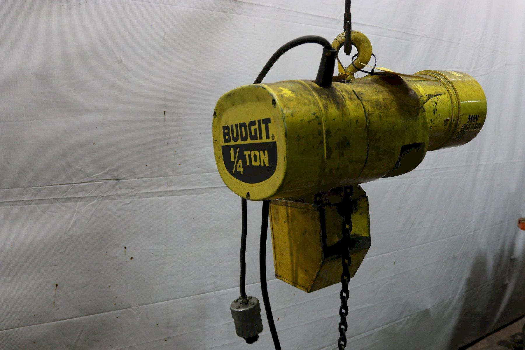 1/4 TON BUDGIT ELECTRIC POWERED CHAIN HOIST:  STOCK #11995