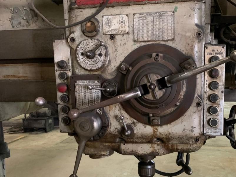 "6' X 19"" CARLTON MODEL 4A RADIAL DRILL: STOCK #11794"