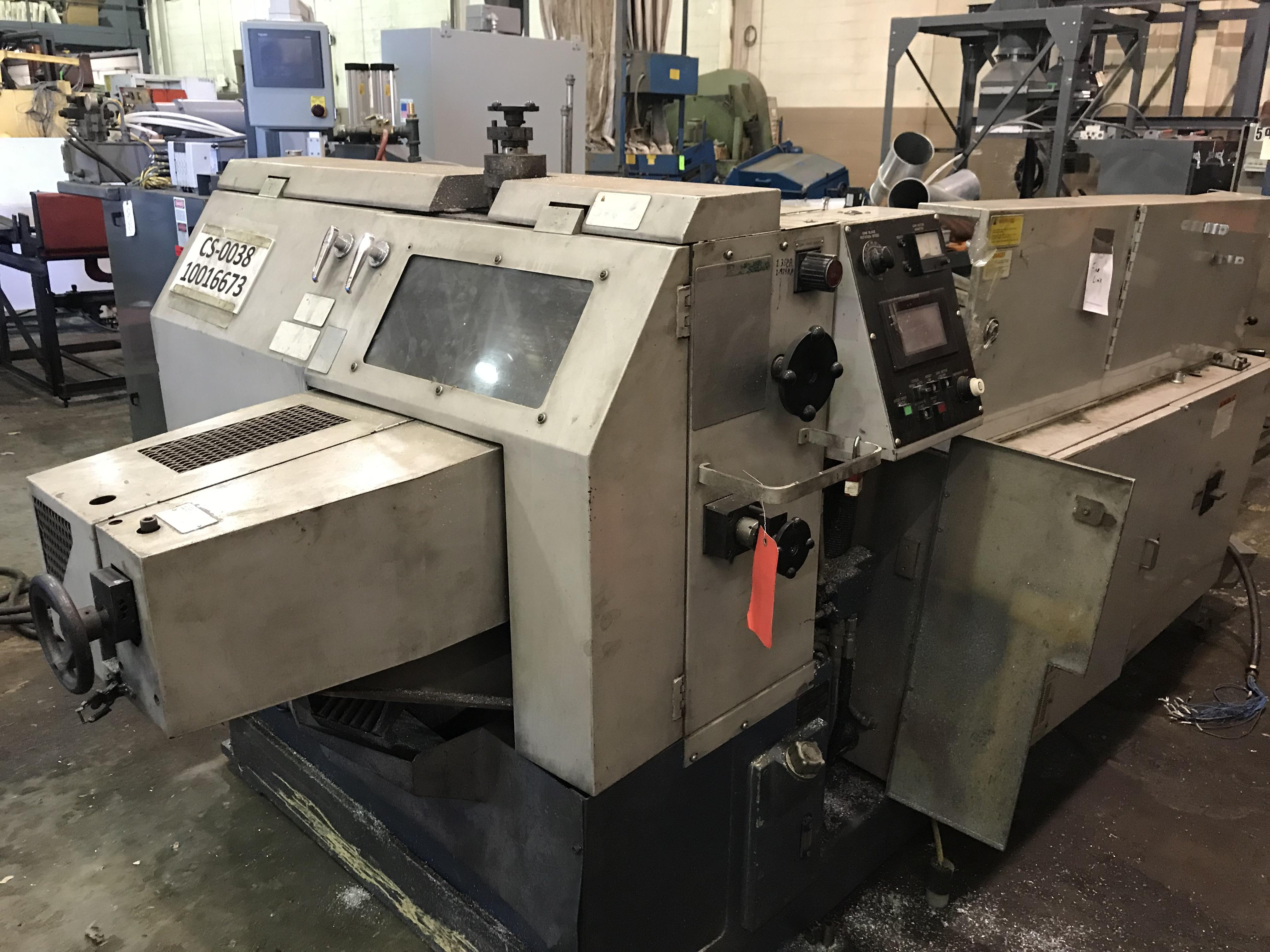 USED TSUNE FULLY AUTOMATIC NON-FERROUS CIRCULAR SAW WITH INCLINE LOADING RACK , Model TK5M90PL,