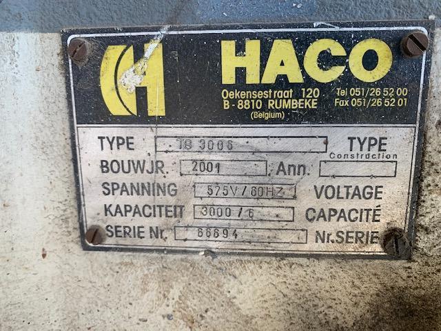 """Haco TS 3006 10' x 1/4"""" Hydraulic Shear  #5756"""