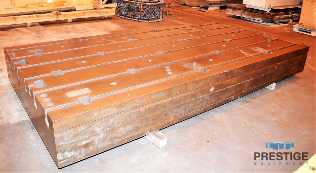 "72.25"" x 144"" x 15.25"" T-Slotted Floor Plate, Cast Iron, (6) T-Slots, (1) Available #28140"
