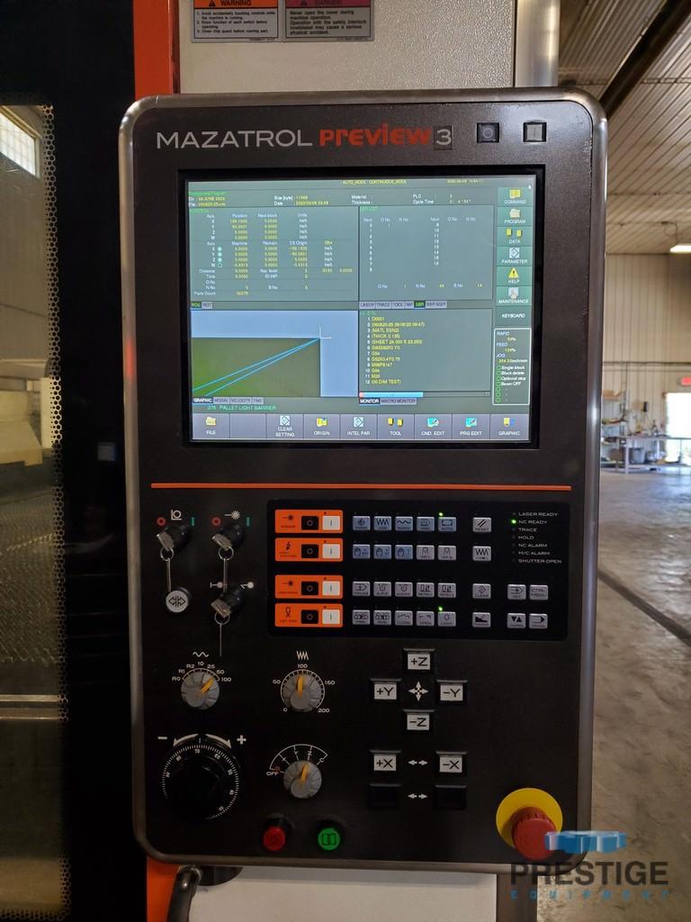 """Mazak Optiplex 4020, 4000 Watt,  X-160"""", Y-80"""", Mazatrol Preview 3 CNC, Pallet Changer, High Speed Piercing, 2013 #30869"""