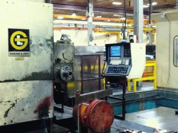 "6"" Giddings & Lewis Mdl G60-FX CNC Floor Type Horizontal Boring Mill, 8000M CNC Ctrl"