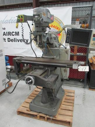 """Bridgeport EX Trak DX 3-Axis CNC Knee Mill, 9"""" X 48"""" Table, Spindle Speeds To 3600, DRO"""