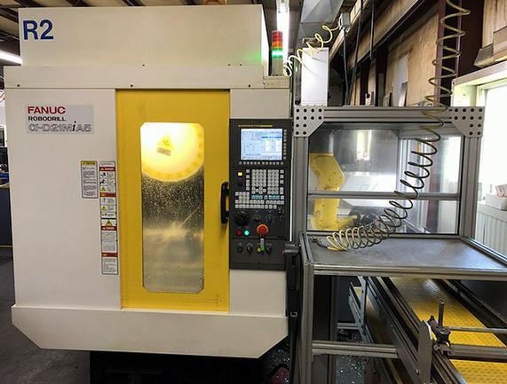 Fanuc Robodrill D21MiA5, 24,000 RPM CNC, w/Fanuc Robot, 2013, #3088