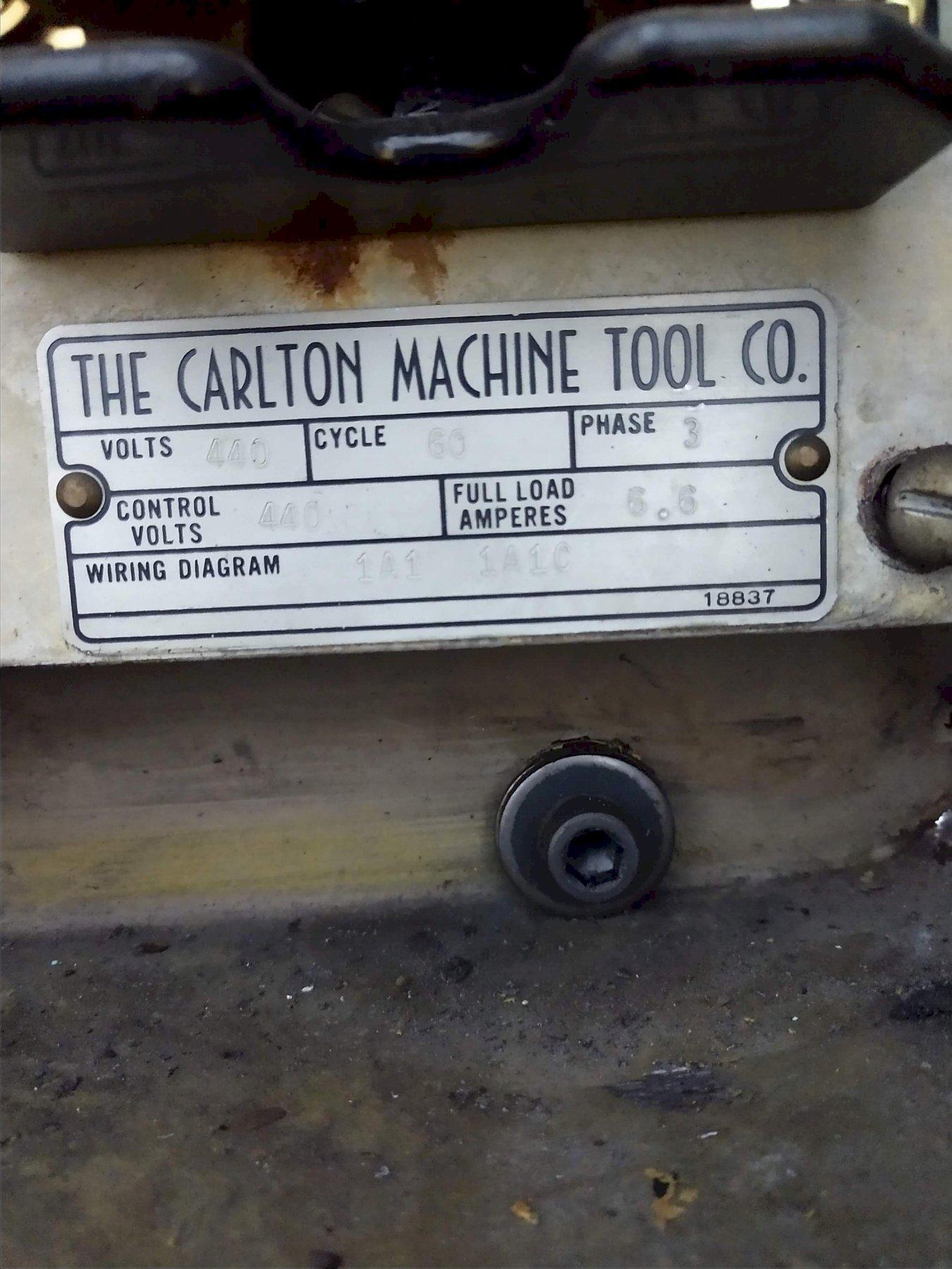 "3' X 9"" CARLTON MODEL #1A RADIAL DRILL: STOCK #10352"