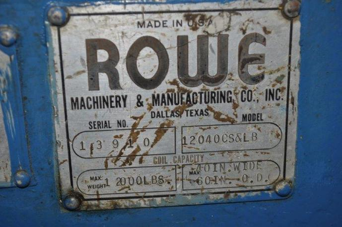 12,000 Lb. Rowe Coil Car