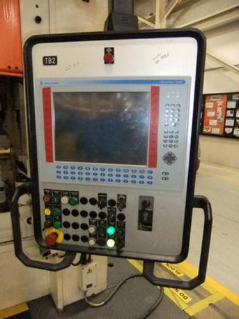 "220 Ton Schuler Model HPDZB200 Hydraulic Press, Bed 94.5"" X 55.1"" T-Slotted, 2002 (10143)"