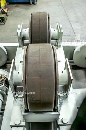 30 Ton Aronson Turning Roll Set, Incl Drive & Idler, Turning Rolls Mtd On 58 1/2 Ga. Rail Cars