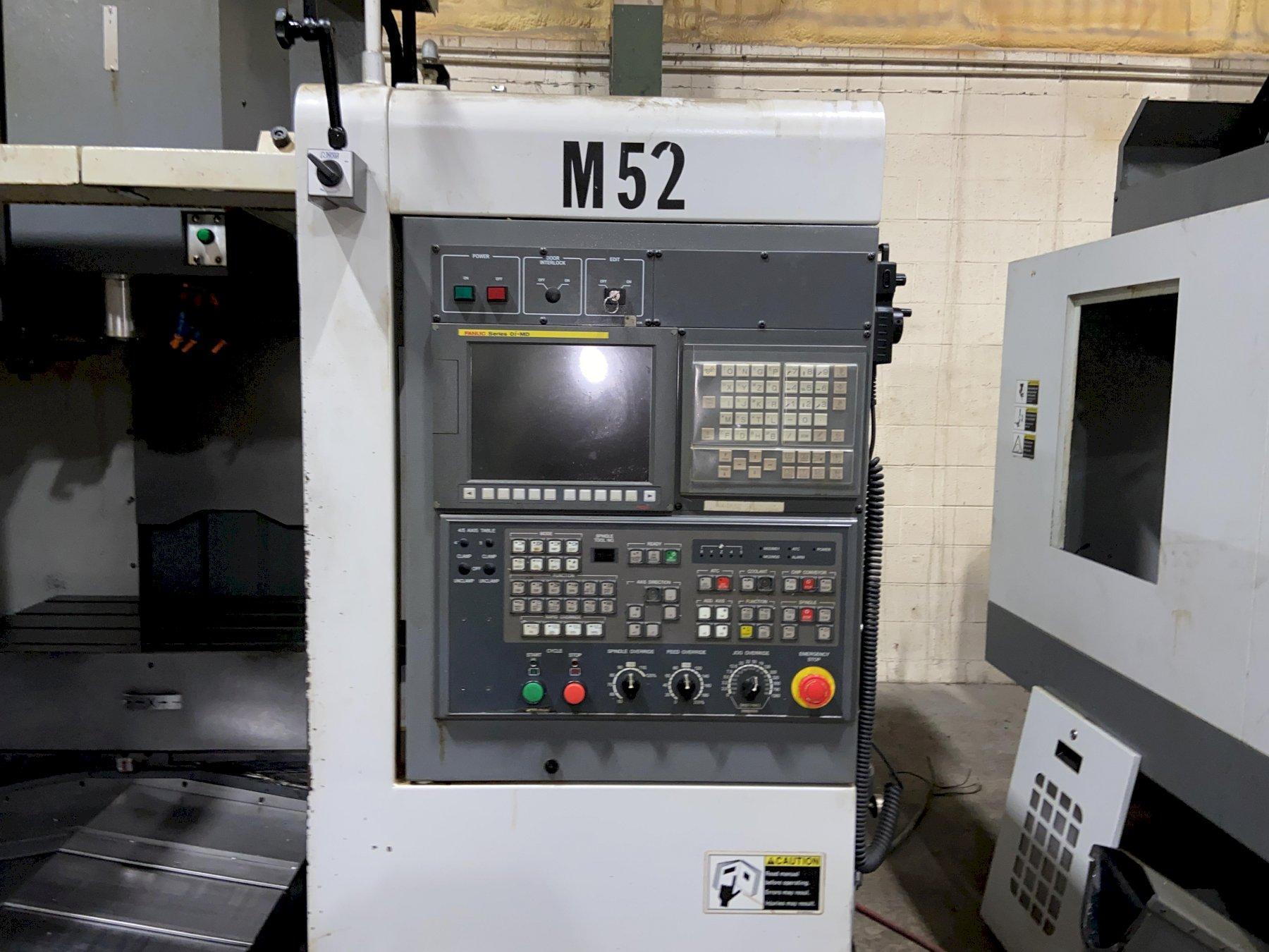 "Samsung MCV-50 CNC Vertical Machining Center, Fanuc Oi, 35.43""/19.69""/20.08""  Travels, 10K Spind"