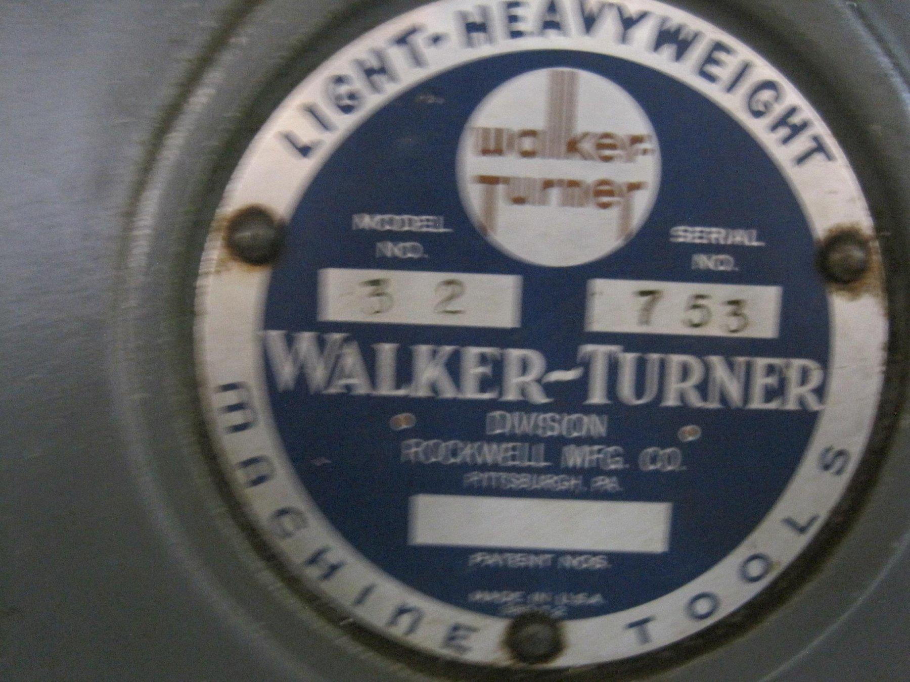 """Walker Turner Vertical 14"""" Model 32 Band Saw"""
