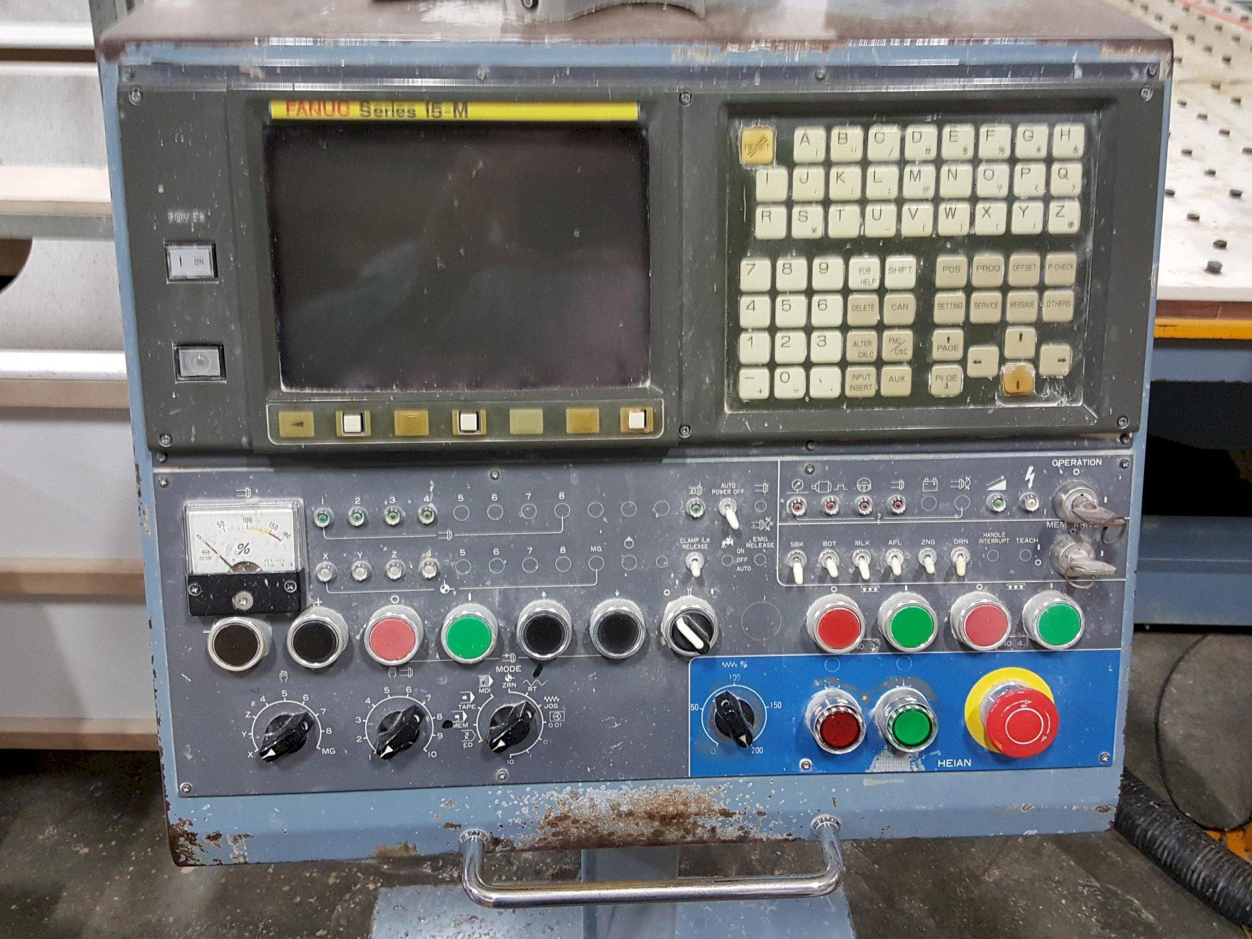 HEIAN MODEL #ZR-442P CNC 4 SPINDLE TWIN MOVING MATRIX TABLE ROUTER: STOCK 13639
