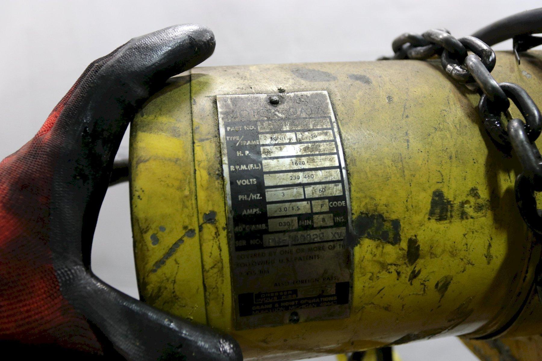 1/4 TON BUDGIT ELECTRIC POWERED CHAIN HOIST: STOCK #12001