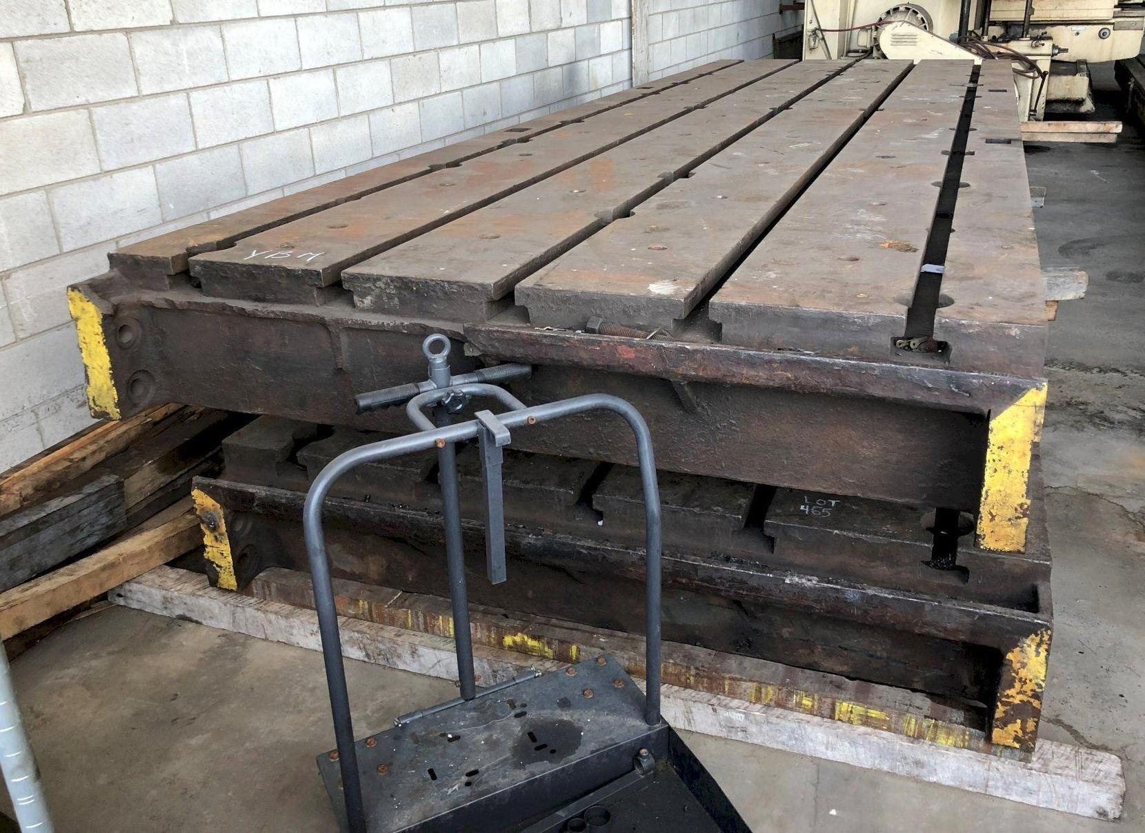 """77"""" X 226"""" X 13-3/4"""" HIGH T-SLOTTED FLOOR PLATE: STOCK #11259"""
