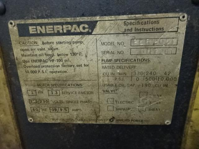ENERPAC PER2037 HYDRAULIC PUMP SYSTEM WITH CART: STOCK #10811