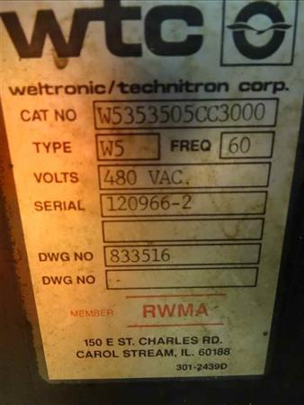 WELTRONIC / TECHNITRON W5 RESISTANCE WELDER