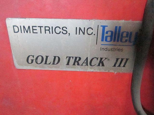 DIMETRICS INC GOLD TRACK III ORBITAL WELDING SYSTEM: STOCK 11472