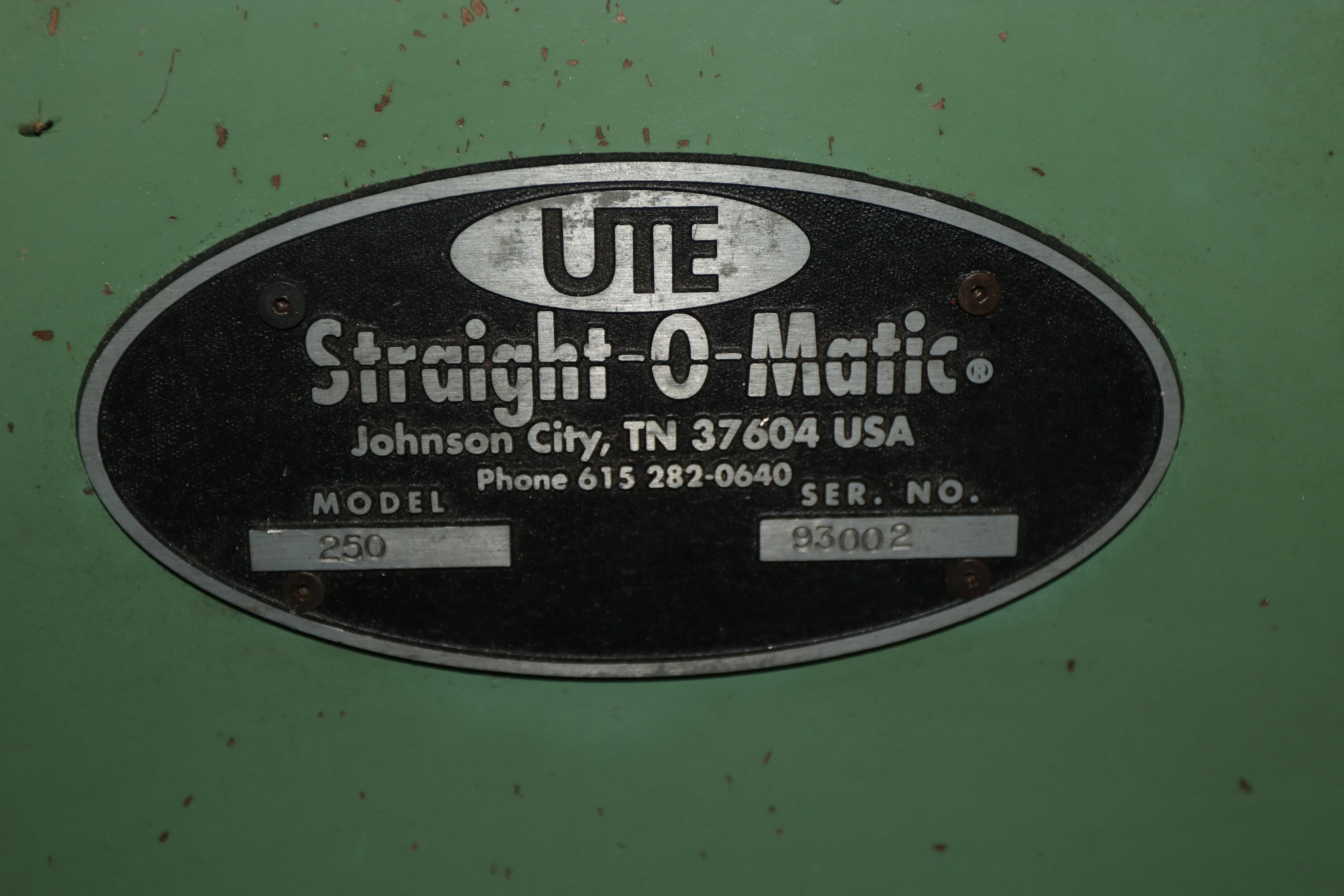 "16"" UTE ""STRAIGHT-O-MATIC""  MODEL 250 BLADE & PART CORRECTIVE STRAIGHTENER: STOCK #10122"