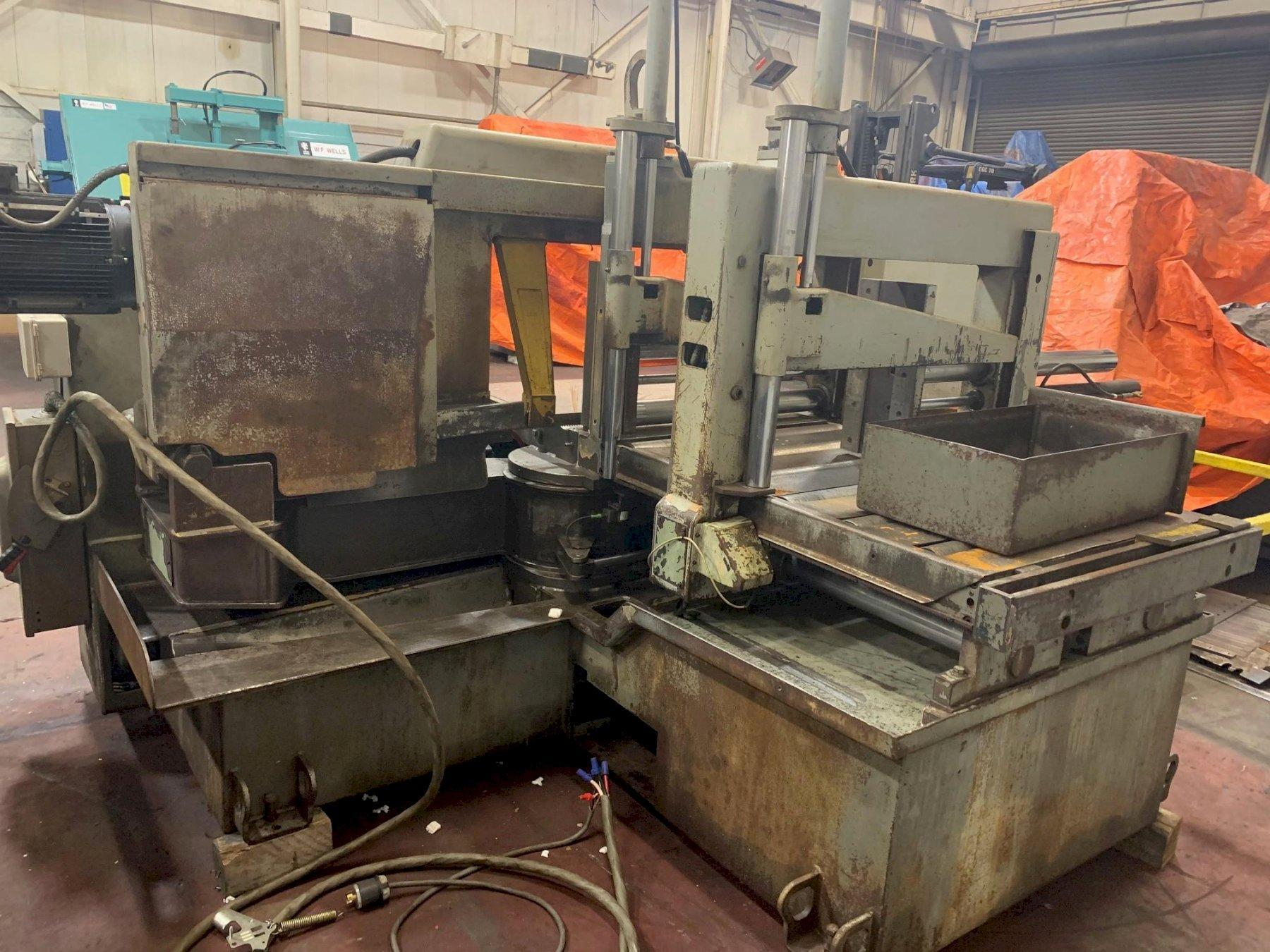 """USED HYD-MECH MODEL M-20A 20"""" X 30"""" FULLY AUTOMATIC MITERING BANDSAW, Stock #10795, Year 2001"""