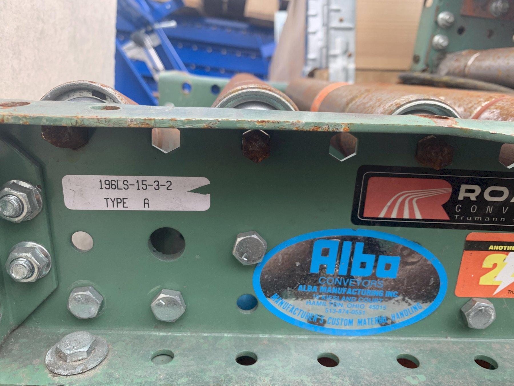 "350' X 14-3/4"" WIDE ROACH POWERED ROLLER CONVEYOR: STOCK #11351"