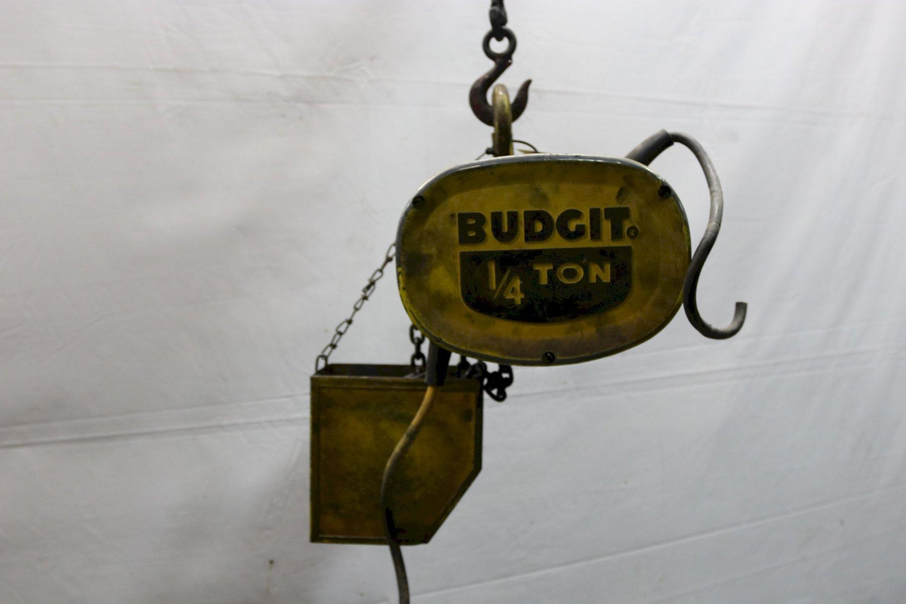 1/4 TON BUDGIT ELECTRIC POWERED CHAIN HOIST: STOCK #11988