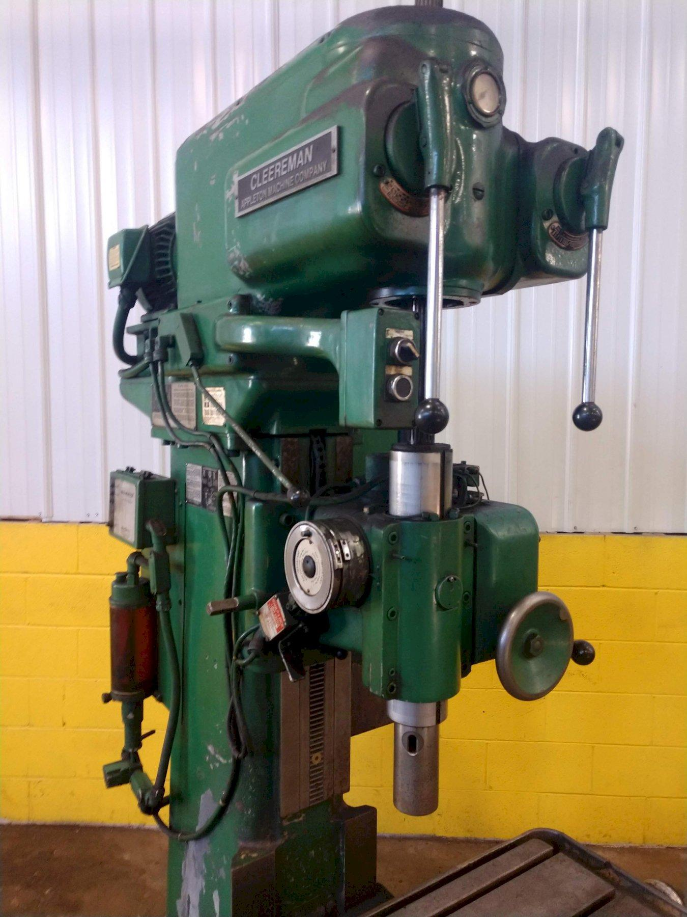 """30"""" CLEEREMAN MODEL #30C SINGLE SPINDLE DRILL, 1000 RPM SPINDLE: STOCK #13427"""
