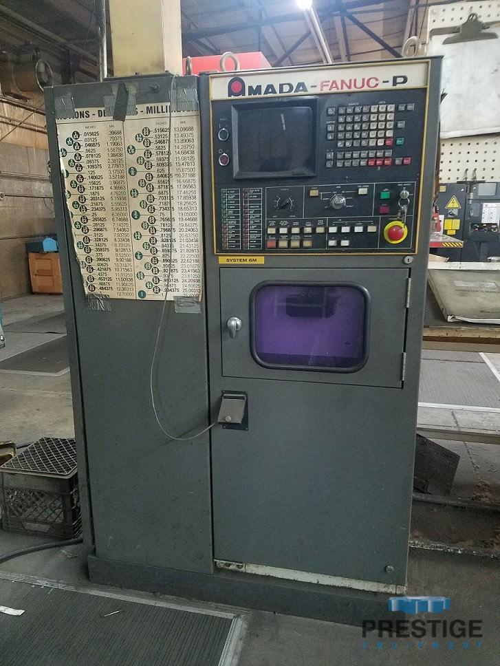 """33 Ton Amada Pega 344, 40"""" x 40"""", Fanuc 6M CNC Control, #30915"""