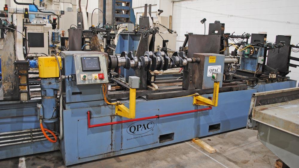 "QPAC Q199HD-60-7 Heavy Duty 60"" Crankshaft Lapping/Micropolishing Machine"