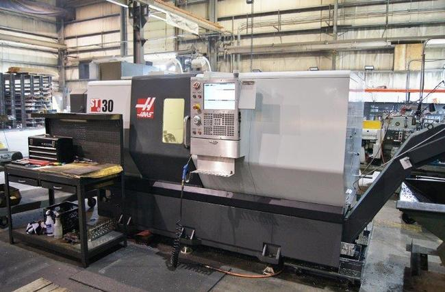 """Haas ST-30, 12""""Chk, 2014, Live Tooling, Chip Conveyor, Gearbox"""