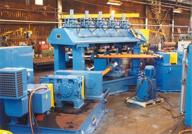 """10.5"""" To 2"""" X .500"""" To .125"""" Wall 6-Roll Rotary For Pipe/Tube"""