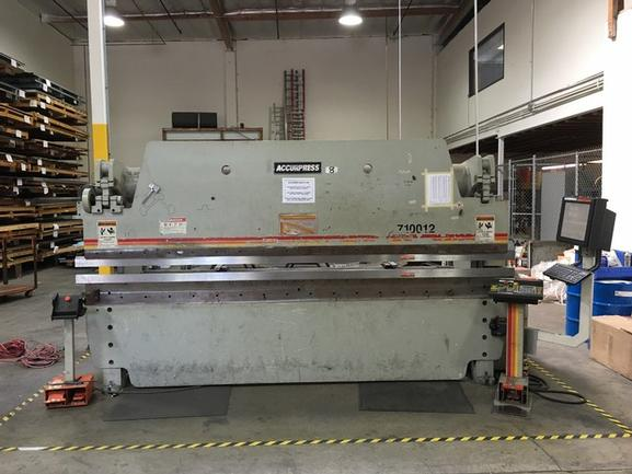 """100 Ton Accurpress 7-100-12, 3-Axis CNC, '00, 8""""Str, 14""""Open Ht,ETS3000 Ctrl,BG,Ft Switch"""