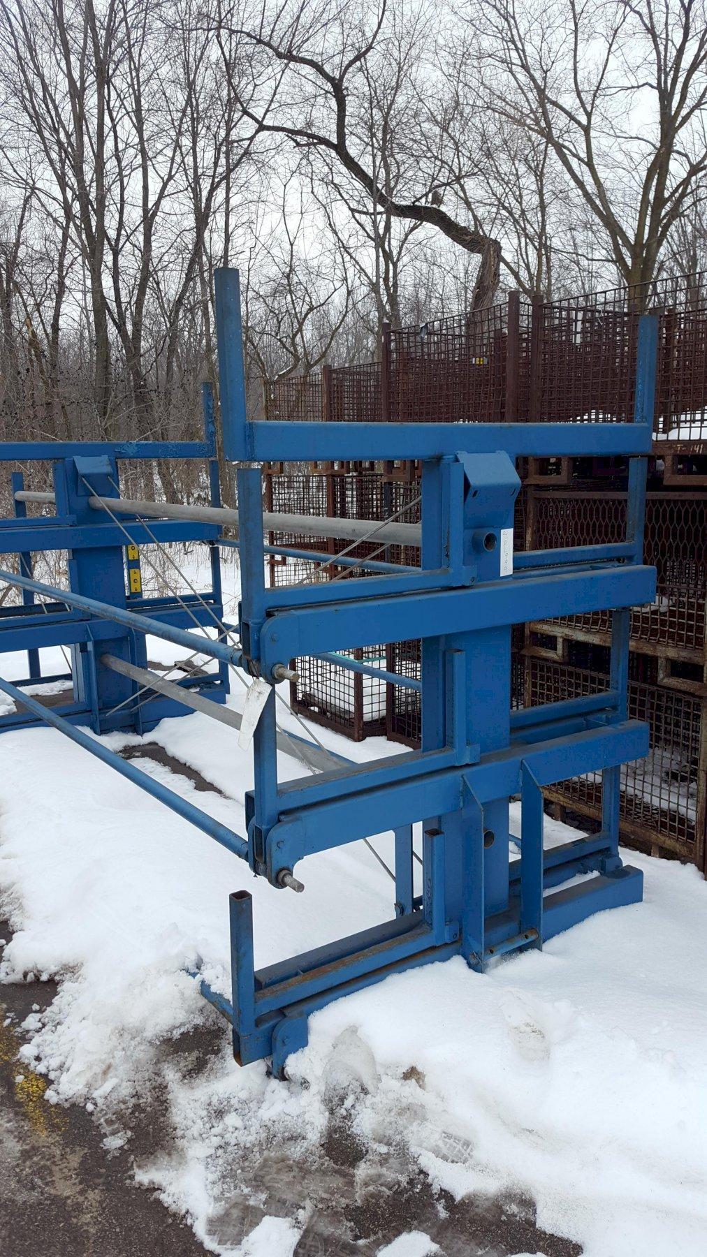 "Steel Storage Systems Model 24"" X 20' Spacesaver Storage Rack"